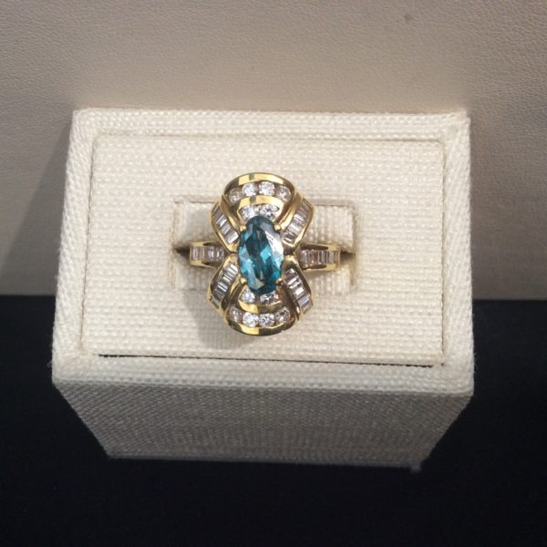 Ring With Blue Diamond Andrews Jewelry